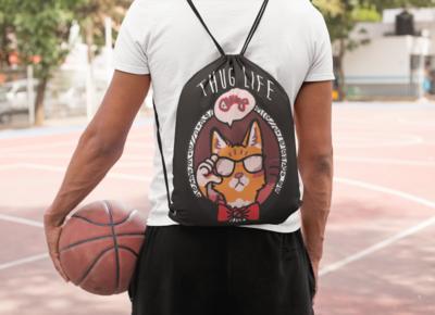 Thug Life Drawstring Bag