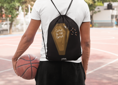 Crave in the Grave Drawstring Bag