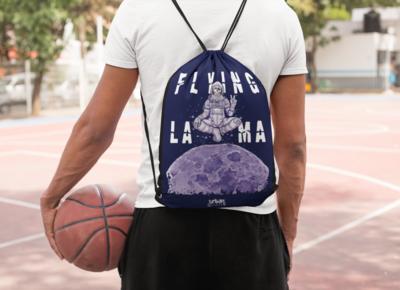 Flying Lama Drawstring Bag