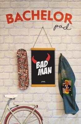 Bad Man Clip Canvas
