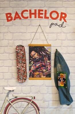 Bob Marley Clip Canvas