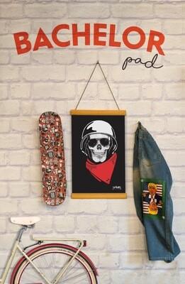 Skull RIDER Clip Canvas