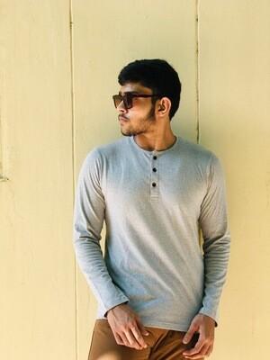 Light Grey Henley T-Shirt