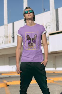 French Bully Banana Full Printed T-Shirt