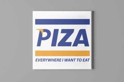 Piza Visa Canvas