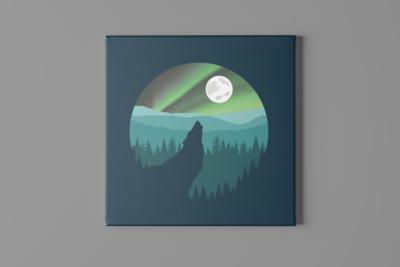 Twilight Wolf Canvas