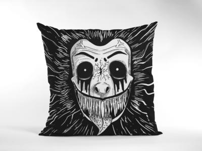 Monochrome Predator Zipper Cushion Cover