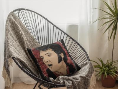 Elvis King Zipper Cushion Cover