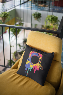 Color Bleed Zipper Cushion Cover