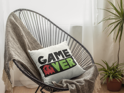 Game Over Zipper Cushion Cover