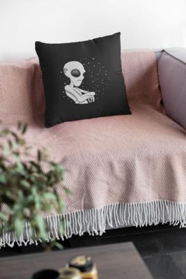 Grumpy Alien Zipper Cushion Cover
