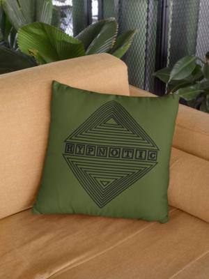 Hypnotic Zipper Cushion Cover