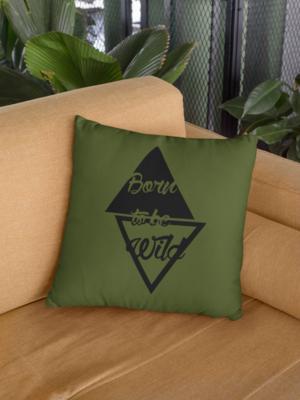 Born Wild Zipper Cushion Cover