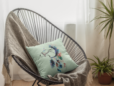 Unicorn Zipper Cushion Cover