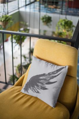 Winged Zipper Cushion Cover