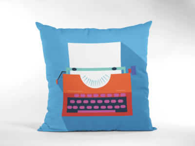 Typewriter Zipper Cushion Cover