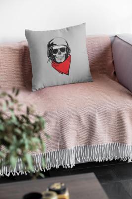 Skull Rider Zipper Cushion Cover