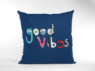 Good Vibes Zipper Cushion Cover