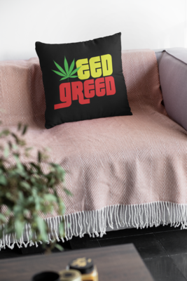 Weed Greed Zipper Cushion Cover