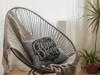Carpe Diem Zipper Cushion Cover