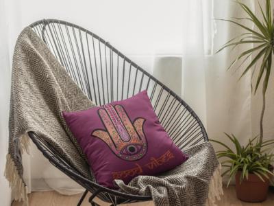 Hamsa Zipper Cushion Cover