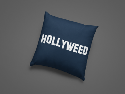 Hollyweed Zipper Cushion Cover