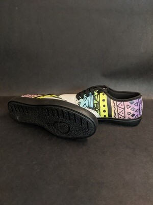 Painted Tribal Printed Shoes