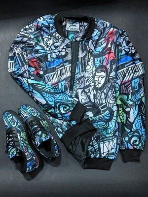 Soul Music Bomber Jacket and Shoes Combo
