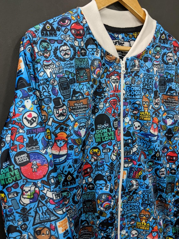 Urban Funk AllOver Print Bomber Jacket