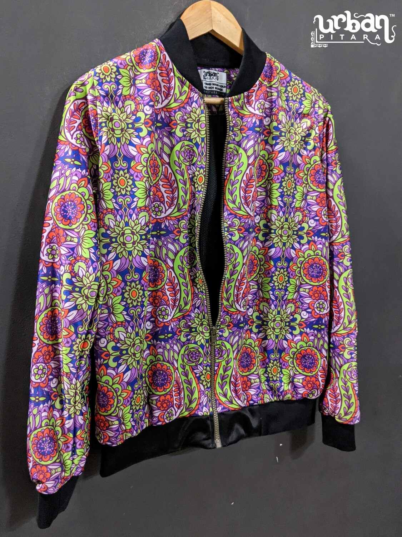 Paisley Print Bomber Jacket