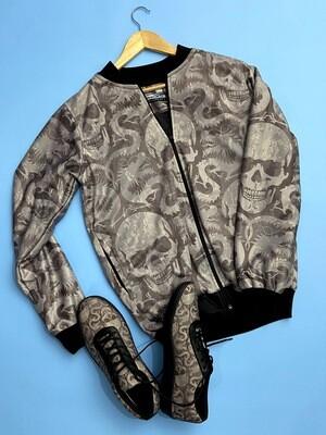 Venom Skull Bomber Jacket and Shoes Combo