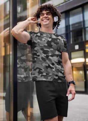 Camo Black Full Printed T-Shirt