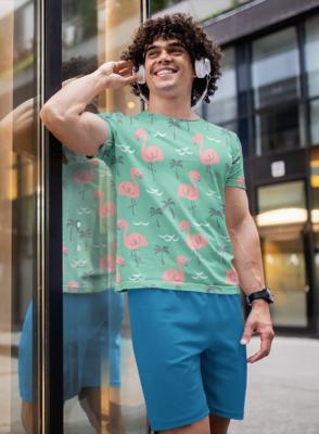 Flamingo Full Printed T-Shirt