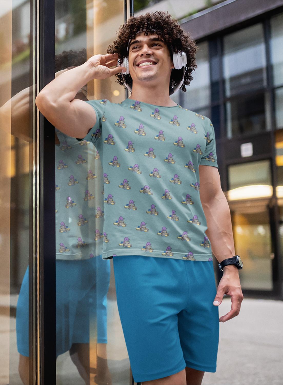 Office Dino Full Printed T-Shirt