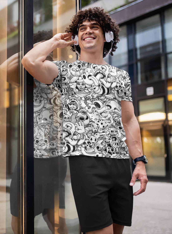 White Anime Full Printed T-Shirt