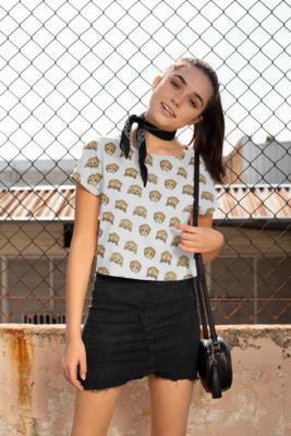 Monkey Emoji CropTop