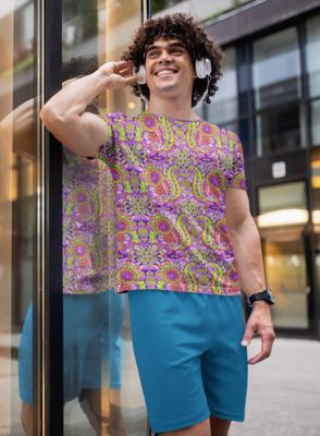 Paisley Full Printed T-Shirt