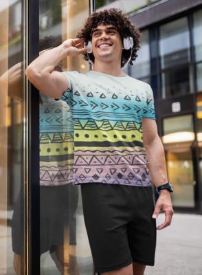 Painted Tribal  Full Printed T-Shirt