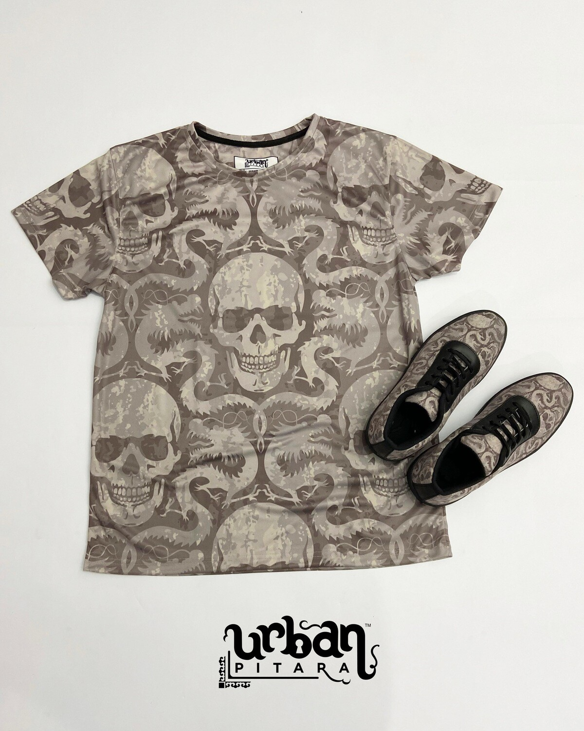 Venom Skull t-shirt and shoes Combo