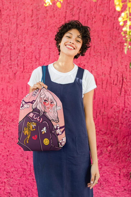 Hanpa Nai Drawstring Bag.