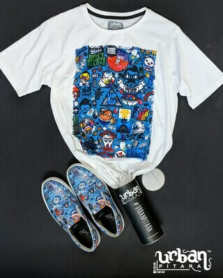 Urban Funk t-shirt and shoes Combo