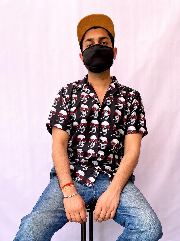 Smoking Skull Buttoned Shirt