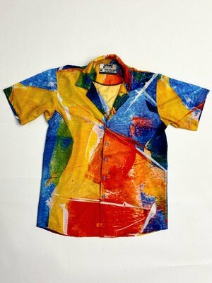 Abstract Buttoned Shirt
