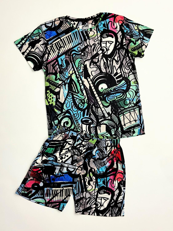 Soul Music t-shirt and shorts Combo