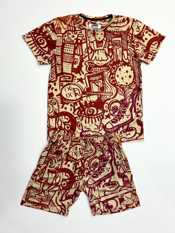 Retro t-shirt and shorts Combo