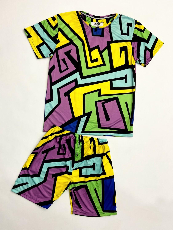 Amaze Maze T-shirt and shorts Combo