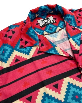 Ethnic Pattern Buttoned Shirt