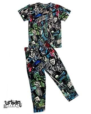 Soul Music Body Suit, T-shirt & Lower Combo