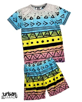 Painted Tribal T-shirt and shorts Combo