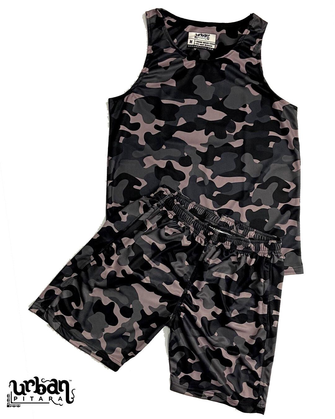 Camo Black Tank and shorts Combo